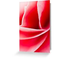 Begonia flower Curves Greeting Card