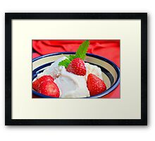 Ice cream with strawberries Framed Print