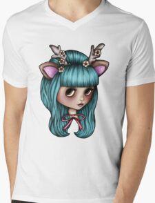 Deer Blythe Doll Mens V-Neck T-Shirt