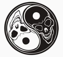 Yin Yang skulls by BungleThreads