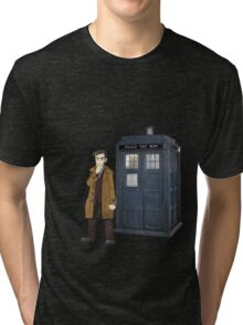 Looker and the Tardis Tri-blend T-Shirt