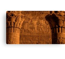 Edfu Temple Detail Canvas Print