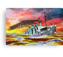 A digital painting of RMS Titanic's Senior Sister RMS Olympic Canvas Print