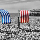 Red White And Blue - Brighton Beach  by Colin  Williams Photography