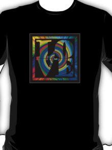 retro color spiral square love t (small front) T-Shirt