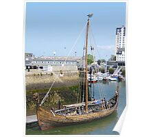 Viking Ship, Being Cleaned Poster