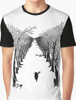 The Cat Who Walks By Himself Graphic T-Shirt