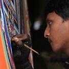 The mandala painter of Changu Narayan by MichaelBr