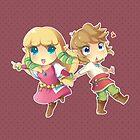 Legend of Zelda Skyward Sword: Chibi Link and Zelda by Zelbunnii