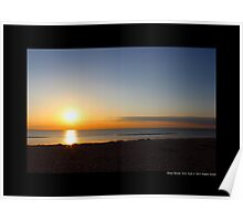 West Meadow Beach Blue Sunset - Stony Brook, New York  Poster