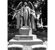 Creepy Angel Photographic Print