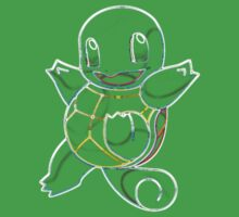 Squirtle Outline Kids Clothes