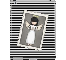 Whimsical Black and White Angel iPad Case/Skin