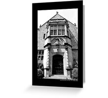 Coe Hall Historic House Museum Front Door - Upper Brookville, New York Greeting Card