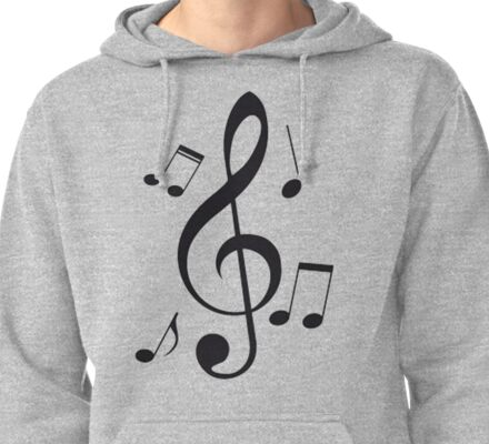 Music Note  Pullover Hoodie