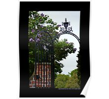 Planting Fields Arboretum State Historic Park Vintage Wrought Iron Gate Detail - Upper Brookville, New York Poster