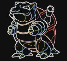 Blastoise Outline Kids Clothes