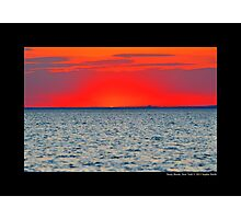 Long Island Sound Red Sunset - Stony Brook, New York Photographic Print