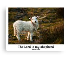 Lord Is My Shepherd (Caption) Psalm 23 Canvas Print