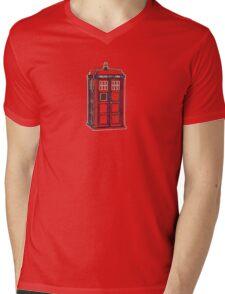 Colorful Lightform Tardis Mens V-Neck T-Shirt