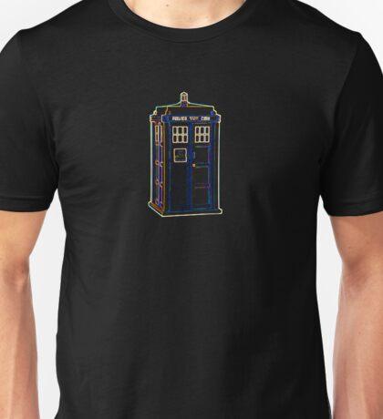 Bright Lightform Tardis Unisex T-Shirt
