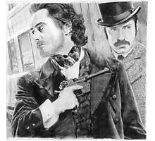 Sherlock Holmes & Doctor Watson Photographic Print