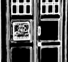 Tardis Cutout Sticker