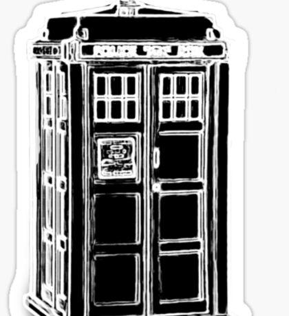 Tardis Cutout Sticker