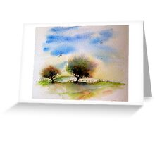 Trees in Fields Greeting Card