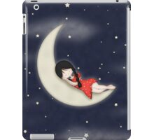 Whimsical Girl Sleeping on the Moon iPad Case/Skin