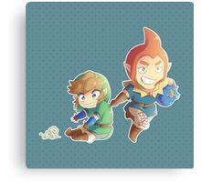 Legend of Zelda: Skyward Sword chibi Link and Groose Canvas Print