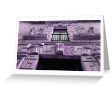 purple house Greeting Card