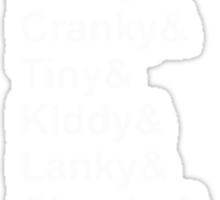 The Kong Family (White Text) Sticker