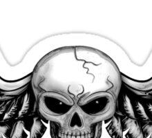 Skull with wings chromed Sticker