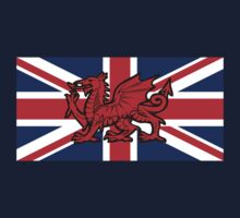 British Flag with Welsh Dragon by jezkemp