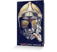 Old Skull Greeting Card