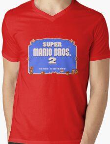Super Mario Bros. 2 Title Screen Mens V-Neck T-Shirt