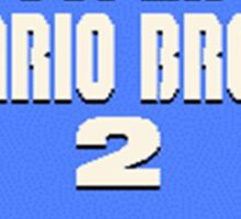 Super Mario Bros. 2 Title Screen Sticker
