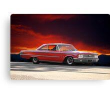 """1963 Ford Galaxie '427"""" Canvas Print"""
