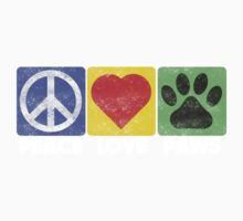 Peace Love Paws One Piece - Long Sleeve