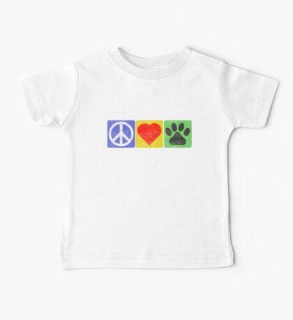 Peace Love Paws Baby Tee