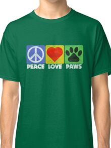 Peace Love Paws Classic T-Shirt