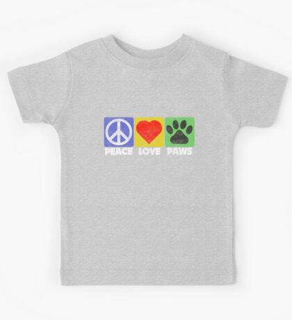 Peace Love Paws Kids Tee