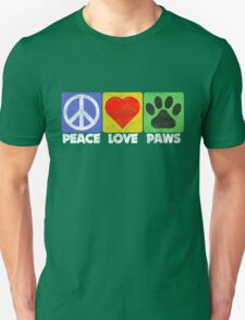 Peace Love Paws Unisex T-Shirt