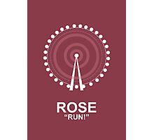 Minimalist 'Rose' Poster Photographic Print