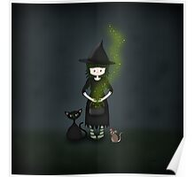 Whimsical Little Witch Poster