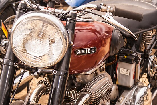 Ariel Motorcycle by Deborah McGrath