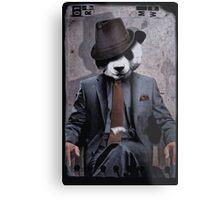 Gangster Panda Metal Print