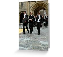Boys in Black Greeting Card