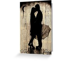 rainy day love story Greeting Card